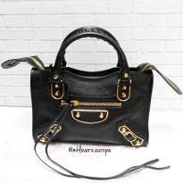Balenciaga Mini City Metallic Edge (Black)