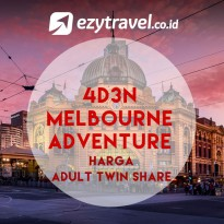 4D3N Melbourne Adventure Adult Twin Share
