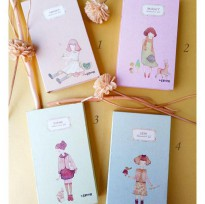 Buku Tulis / Memo Notebook / Agenda Fancy Lipat 3 HARD COVER - NAMES