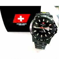 JAM TANGAN Swiss Army Man 078 all stainless - Man Watch Collection