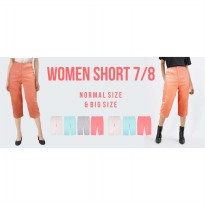 New Collection! Women Short 7/8 - Good Material - Celana Pendek Wanita - Celana 7/8 - Celana Santai