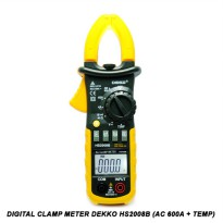 Digital Clamp Meter Dekko HS2008B ( AC 600A + Temperature )