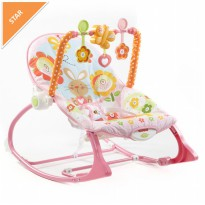 Fisher Price Infant to Toddler Pink Rocker - Y4544