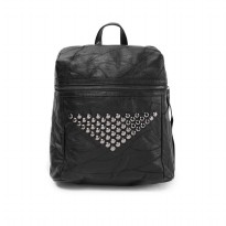 London Berry by HUER Betaya 3 Ways Studded Backpack 9453-024 Black