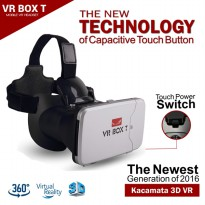 VR Box T 3D VR Cardboard 2 w/ Virtual Reality Capacitive Touch Button