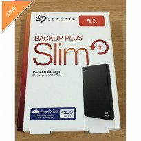 HDD External Seagate Backup Plus Slim External Harddisk - 1TB, USB