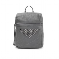 London Berry by HUER Betaya 3 Ways Studded Backpack 9453-024 Grey