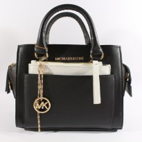 New Tas Wanita Premium Import Branded Michael Kors Two Tone Black White |Zr1411