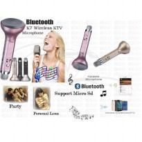 7 Wireless Handheld Home KTV Karaoke Bluetooth Microphone Mic Speaker For Phone