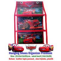 HSOP (Hanging Shoes Organizer Premium Karakter Kitty, Cars, Princess, Pooh, Mickey, Minnie,AngryBird