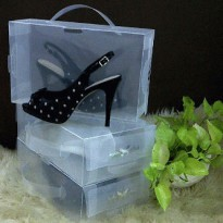Paket 6 pcs Kotak Sepatu Basic M Putih (Shoes Box Basic M White)