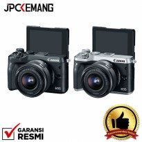 Canon EOS M6 Mirrorless Digital Camera with 15-45mm GARANSI RESMI