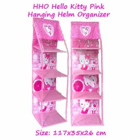 HHOZ Hello Kitty Pink (Hanging Helm Organizer Zipper) Rak Helm Gantung Retsleting Karakter
