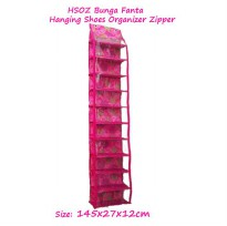 HSOZ Flower (Rak Sepatu Gantung Retsleting Bunga)  Hanging Shoes Organizer Zipper Flower