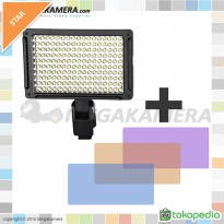 Professional Video Light LED-170A Lampu video + Filter