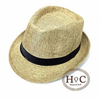 Topi Fedora Hat LIST CREAM FEDORA