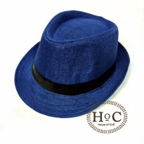 Topi Fedora Hat LIST BLUE FEDORA