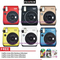 Fujifilm Polaroid Camera Instax Mini 70 - Canary Yellow, Moon White, Island Blue, Black, Red, Gold