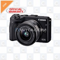 Canon EOS M3 Kit EF-M15-45mm - HITAM