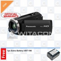 Panasonic HC-V180 Full HD Camcorder + Extra Battery