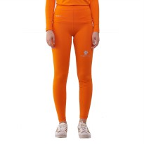 Tiento Baselayer Compression Celana Olahraga Tight Legging Long Pants Orange Original