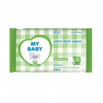 My Baby Wipes Antibacterial 50 Sheets x 2 pcs