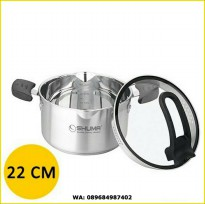 SHUMA STAINLESS STEEL DUTCH OVEN ELENA 22CM 3,5LT TEBAL