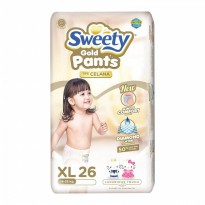 Sweety Popok Bayi Pantz Royal Gold - XL 26