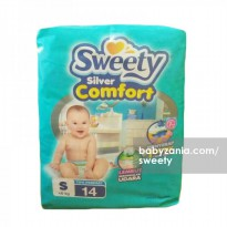 Sweety Popok Bayi Silver Comfort Tape - S 14