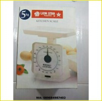 TIMBANGAN KUE (KITCHEN SCALE) 5KG LION STAR