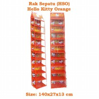 HSOZ Hello Kitty Orange  (Rak Sepatu Gantung Retsleting) Hanging Shoes Organizer