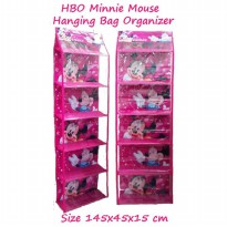 HBOZ Minnie Mouse Fanta (Rak Tas Gantung Retsleting) Hanging Bag Organizer Zipper