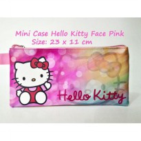 Mini Case Character Hello Kitty Face Pink Muda Travelling Organizer Fancy Pouch Tempat Pensil Dompet