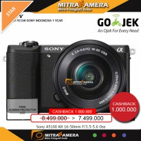 Kamera Sony Alpha A5100 Kit 16-50mm (Promo Cashback)