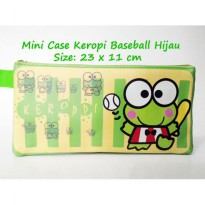 Mini Case Character Keroppi Baseball Hijau Pencil Case Travelling Organizer Keropi Fancy Pouch