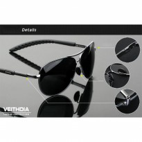 Veithdia Kacamata Aviator Polarized Sunglasses