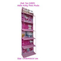 HBOZ Hello Kitty Pink Muda (Rak Tas Gantung Retsleting) Hanging Bag Organizer Zipper