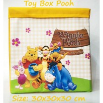Toy Box Triplek Pooh Kuning (Kotak Mainan Karakter) Foldable Storage