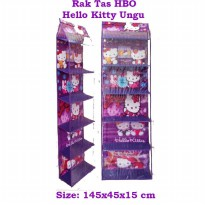HBOZ Hello Kitty Ungu (Rak Tas Gantung Retsleting) Hanging Bag Organizer Zipper