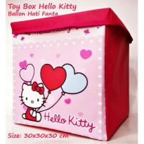 Toy Box Triplek Hello Kitty Ballon Hati Fanta (Kotak Mainan Karakter) Foldable Storage