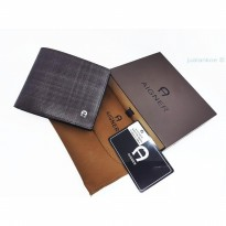 Diskon Dompet Pria Import Branded Aigner Dk119-2619 Coffee |Zr4026