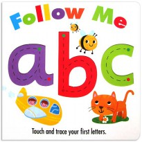 [HelloPandaBooks] Follow Me abc Board Book - Touch and trace your first letters