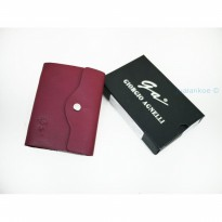Promo Dompet Kartu Card Holder Kulit Asli Giorgio Agnelli Np 920 Red |Zr3822