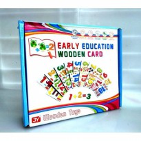 Mainan Edukasi Anak Early Education Wooden Card Number