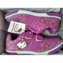 sepatu ando hello kitty alphabet purple