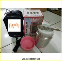 SHUMA VACUUM FOOD JAR BOX MAKANAN 480ML STAINLESS STEEL
