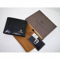 New Dompet Pria Mini Import Aigner Dc187-022 Black |Zr4051