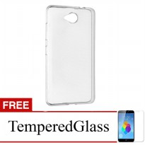 Case for Nokia Lumia 435 - Clear + Gratis Tempered Glass - Ultra Thin Soft Case