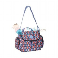 Okiedog Freckles Cooler Bag Rombe Size 31 x 18 x 24 cm Color Blue Red
