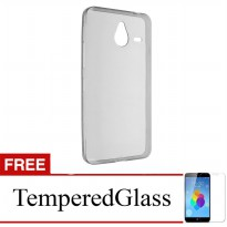 Case for Nokia X2 - Abu-abu + Gratis Tempered Glass - Ultra Thin Soft Case